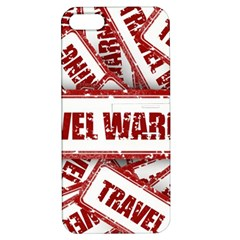 Travel Warning Shield Stamp Apple Iphone 5 Hardshell Case With Stand by Nexatart