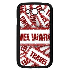 Travel Warning Shield Stamp Samsung Galaxy Grand Duos I9082 Case (black)