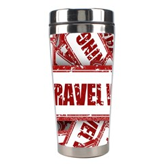 Travel Warning Shield Stamp Stainless Steel Travel Tumblers