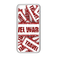 Travel Warning Shield Stamp Apple Iphone 5c Seamless Case (white) by Nexatart