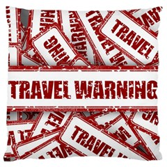 Travel Warning Shield Stamp Standard Flano Cushion Case (two Sides) by Nexatart