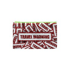 Travel Warning Shield Stamp Cosmetic Bag (xs)