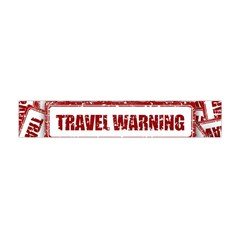 Travel Warning Shield Stamp Flano Scarf (mini)