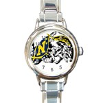 Navy Midshipmen -  Round Italian Charm Watch