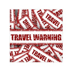 Travel Warning Shield Stamp Small Satin Scarf (square)