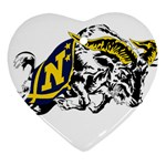Navy Midshipmen -  Ornament (Heart)