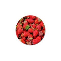 Strawberries Berries Fruit Golf Ball Marker