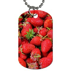 Strawberries Berries Fruit Dog Tag (two Sides)