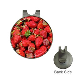 Strawberries Berries Fruit Hat Clips With Golf Markers by Nexatart