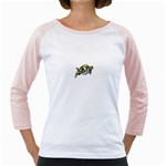 Navy Midshipmen -  Girly Raglan