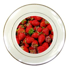 Strawberries Berries Fruit Porcelain Plates by Nexatart
