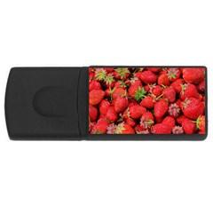 Strawberries Berries Fruit Rectangular Usb Flash Drive