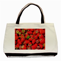 Strawberries Berries Fruit Basic Tote Bag by Nexatart