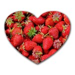 Strawberries Berries Fruit Heart Mousepads Front