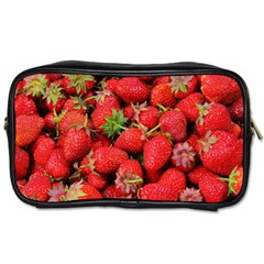 Strawberries Berries Fruit Toiletries Bags 2 Side