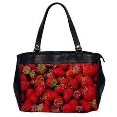 Strawberries Berries Fruit Office Handbags by Nexatart