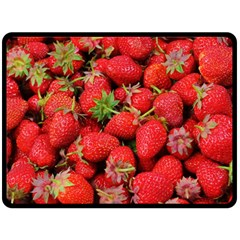 Strawberries Berries Fruit Fleece Blanket (large)