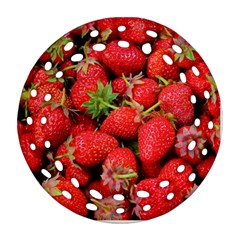 Strawberries Berries Fruit Ornament (round Filigree)