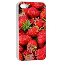 Strawberries Berries Fruit Apple Iphone 4/4s Seamless Case (white)