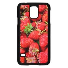 Strawberries Berries Fruit Samsung Galaxy S5 Case (black)