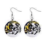 Navy Midshipmen -  1  Button Earrings