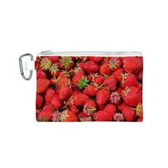 Strawberries Berries Fruit Canvas Cosmetic Bag (s) by Nexatart