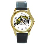 Navy Midshipmen -  Round Gold Metal Watch
