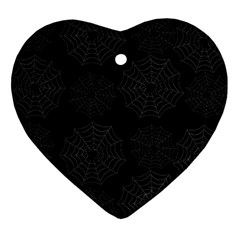 Spider Web Heart Ornament (two Sides) by Valentinaart