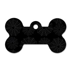 Spider Web Dog Tag Bone (two Sides) by Valentinaart