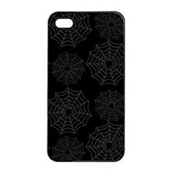 Spider Web Apple Iphone 4/4s Seamless Case (black) by Valentinaart