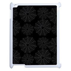 Spider Web Apple Ipad 2 Case (white) by Valentinaart