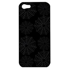 Spider Web Apple Iphone 5 Hardshell Case by Valentinaart