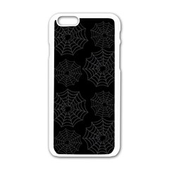 Spider Web Apple Iphone 6/6s White Enamel Case by Valentinaart
