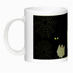 Spider Web And Ghosts Pattern Night Luminous Mugs by Valentinaart