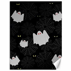 Spider Web And Ghosts Pattern Canvas 36  X 48   by Valentinaart