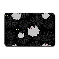 Spider Web And Ghosts Pattern Small Doormat  by Valentinaart