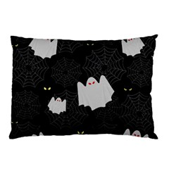 Spider Web And Ghosts Pattern Pillow Case by Valentinaart
