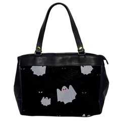 Spider Web And Ghosts Pattern Office Handbags by Valentinaart