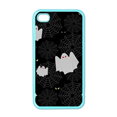 Spider Web And Ghosts Pattern Apple Iphone 4 Case (color) by Valentinaart