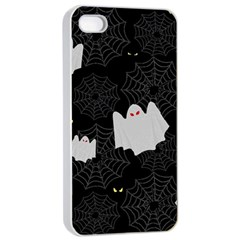 Spider Web And Ghosts Pattern Apple Iphone 4/4s Seamless Case (white) by Valentinaart