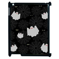 Spider Web And Ghosts Pattern Apple Ipad 2 Case (black) by Valentinaart
