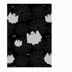Spider Web And Ghosts Pattern Large Garden Flag (two Sides) by Valentinaart