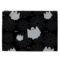 Spider Web And Ghosts Pattern Cosmetic Bag (xxl)  by Valentinaart