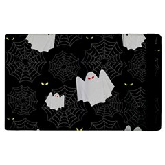 Spider Web And Ghosts Pattern Apple Ipad 2 Flip Case by Valentinaart