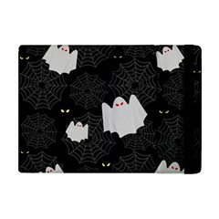 Spider Web And Ghosts Pattern Apple Ipad Mini Flip Case by Valentinaart