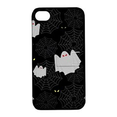 Spider Web And Ghosts Pattern Apple Iphone 4/4s Hardshell Case With Stand by Valentinaart