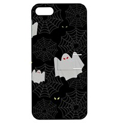Spider Web And Ghosts Pattern Apple Iphone 5 Hardshell Case With Stand by Valentinaart