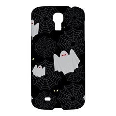 Spider Web And Ghosts Pattern Samsung Galaxy S4 I9500/i9505 Hardshell Case by Valentinaart