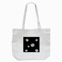 Spider Web And Ghosts Pattern Tote Bag (white) by Valentinaart