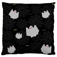 Spider Web And Ghosts Pattern Large Flano Cushion Case (two Sides) by Valentinaart